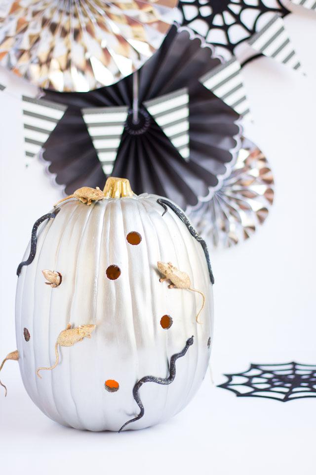 Spooky snake and mice pumpkin decorating idea!