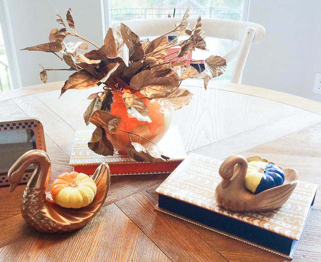 Thanksgiving table ideas using thrift store items!