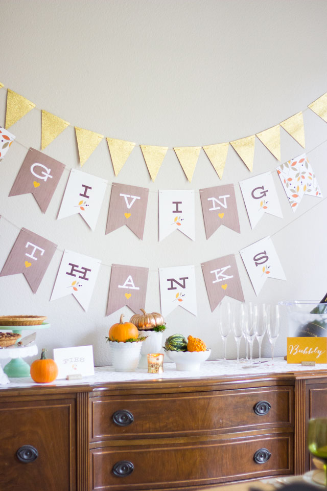 Thanksgiving table ideas using Minted's holiday decor