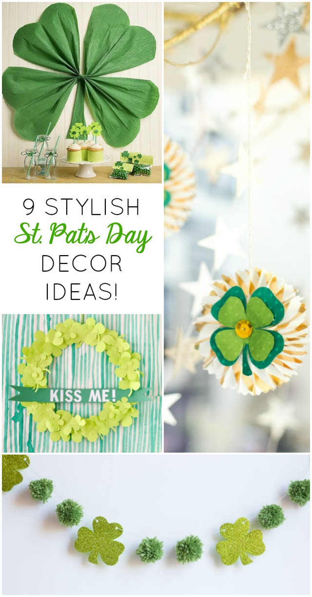 Try these 9 awesome DIY shamrock crafts for stylish and modern St. Patricks Day decor!