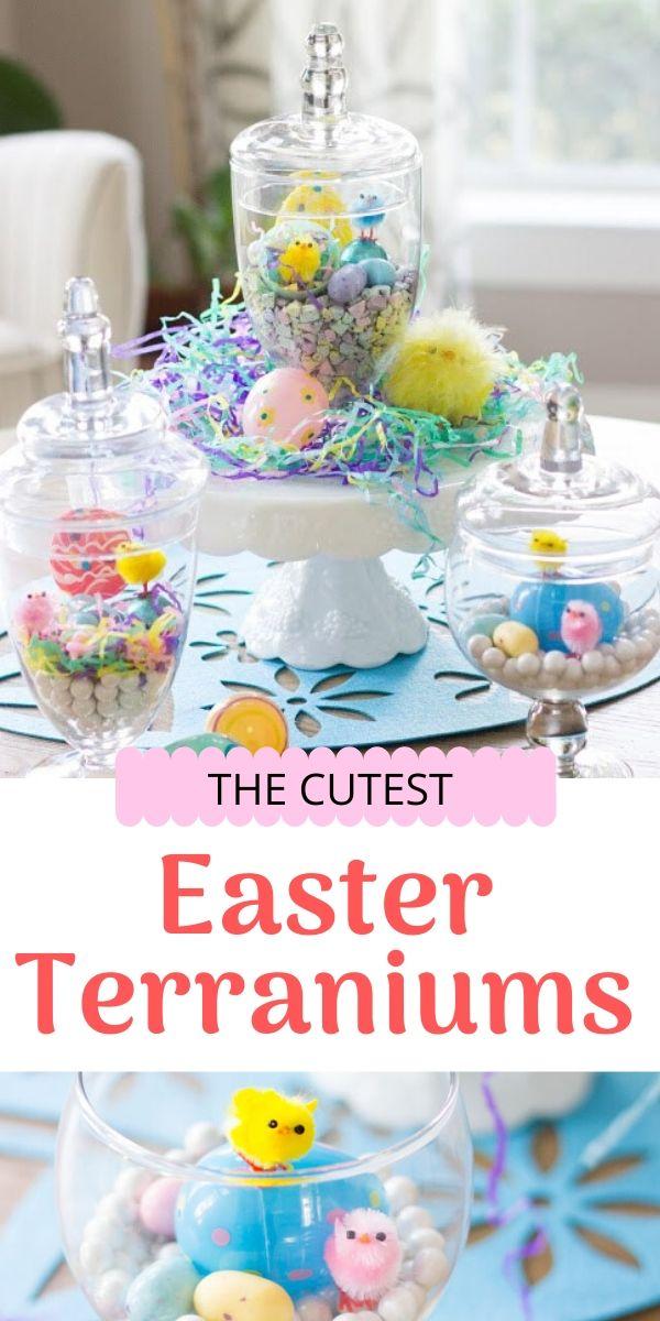 DIY Easter Terrariums