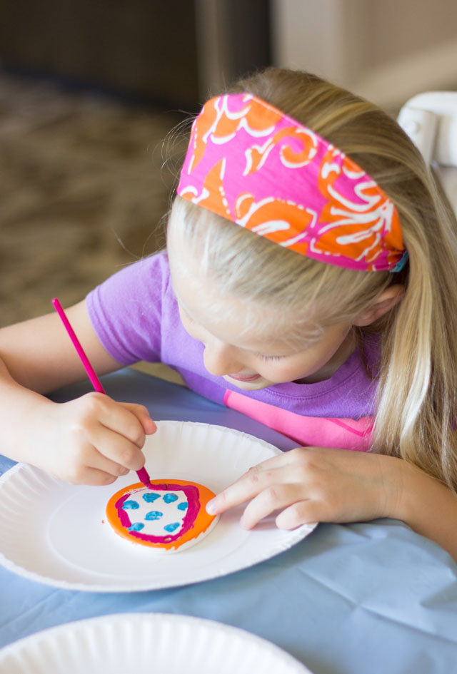 Have kids paint their own egg ornaments and make an Easter egg tree!