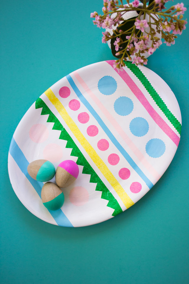 How to make a giant Easter egg from an oval platter!
