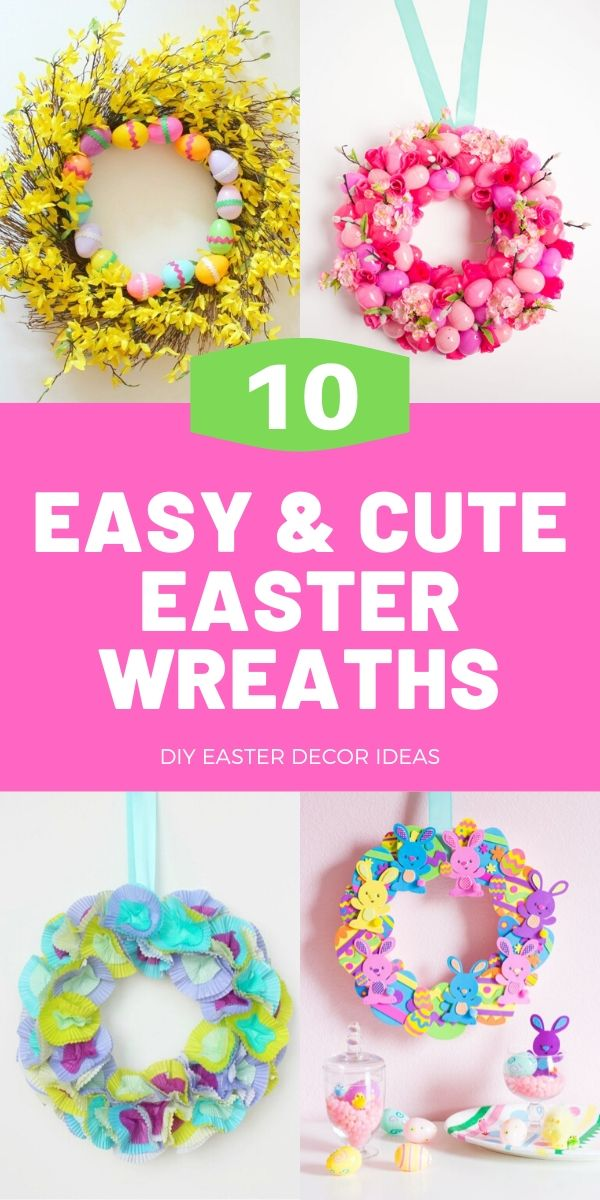 Easy DIY Easter Wreaths
