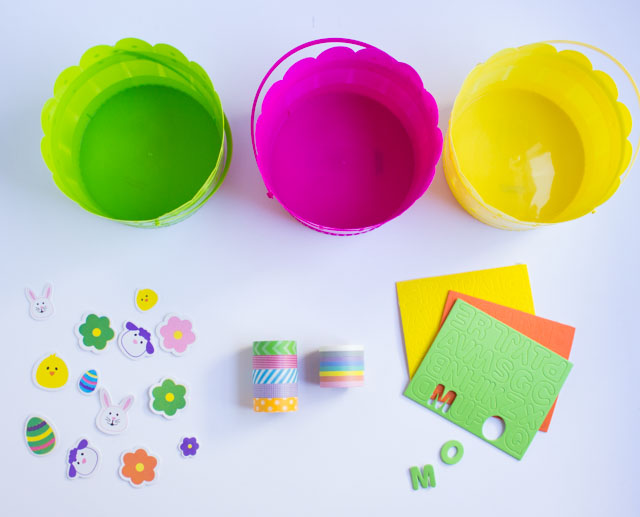 Supplies for DIY Easter baskets