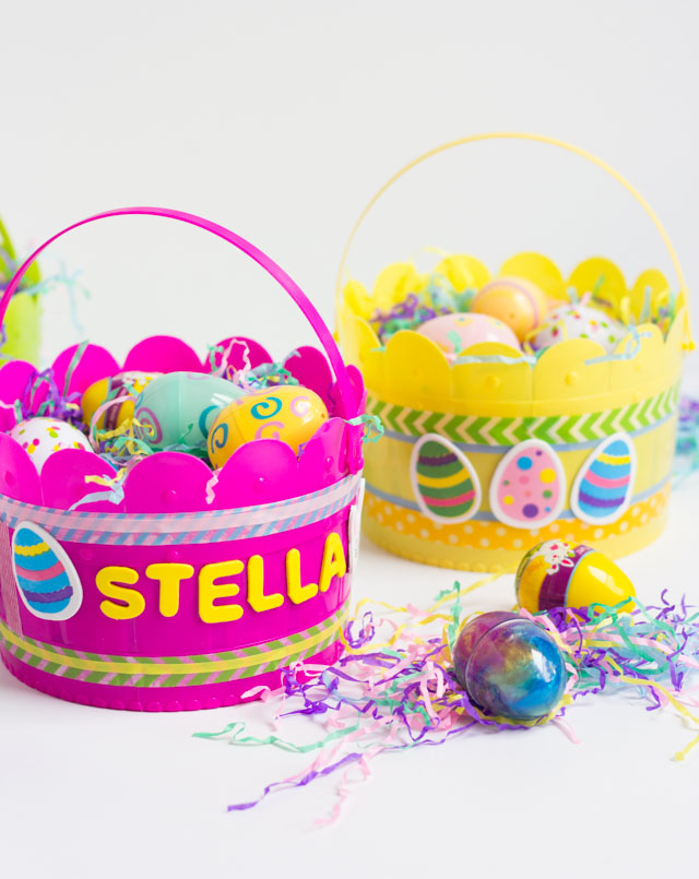 Decorate your own Easter basket - such a fun kids Easter craft idea!