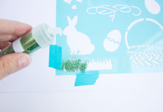 How to stencil with glitter