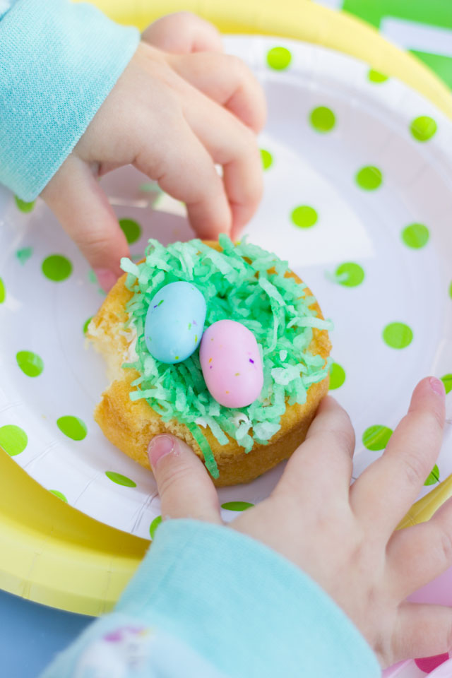 Easter birds nest cakes - made with just a few store bought ingredients!