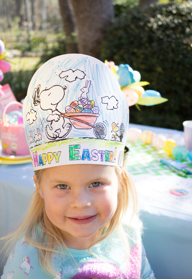 Love these color your own Easter party crowns