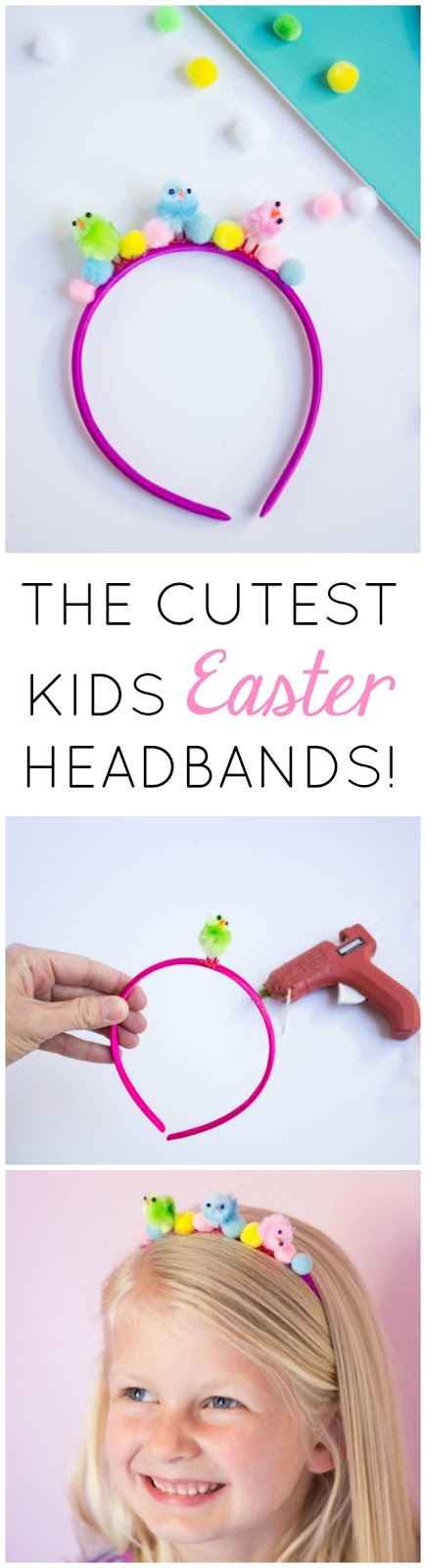 These DIY baby chick headbands are the perfect kids craft for an Easter party or egg hunt!
