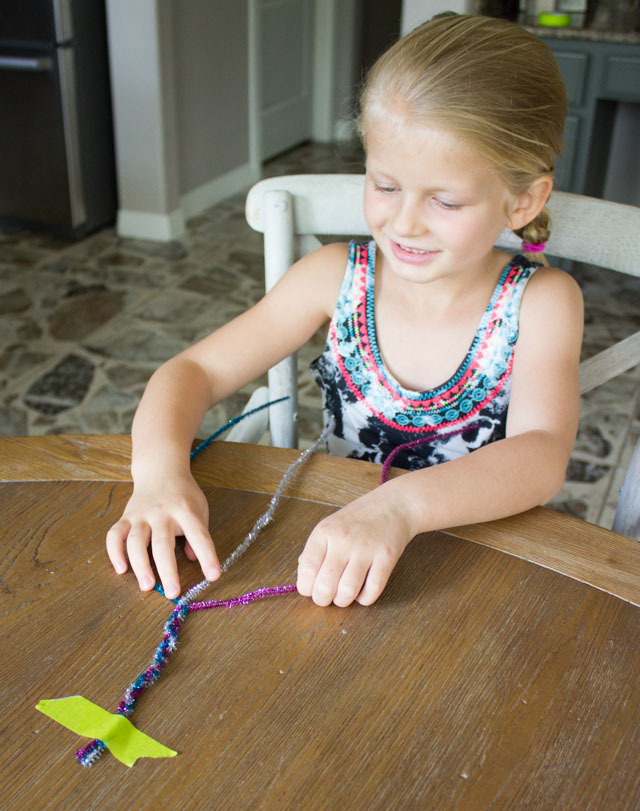 How to braid with pipe cleaners
