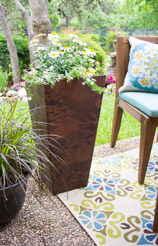 Ella square planter from Home Decorators Collection