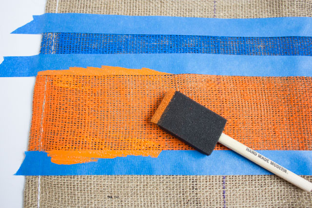 How to paint burlap