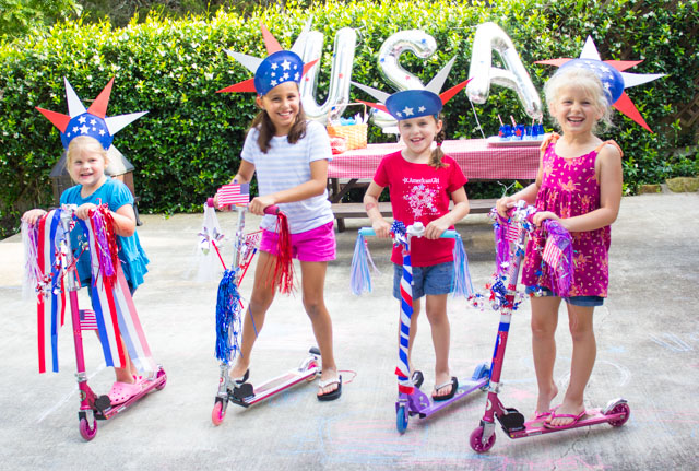 Have a 4th of July bike and scooter parade!