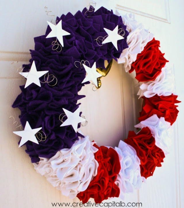 Red Wreath And Blue 17 Inspiring Diy Patriotic Wreaths