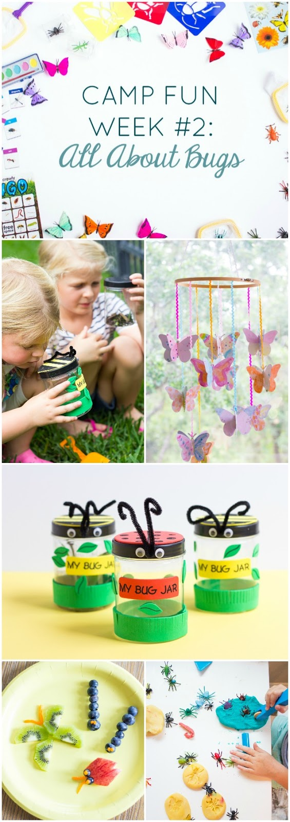 """Camp Fun """"All About Bugs"""" - check out all these creepy crawly bug activities for kids summer camp at home!"""