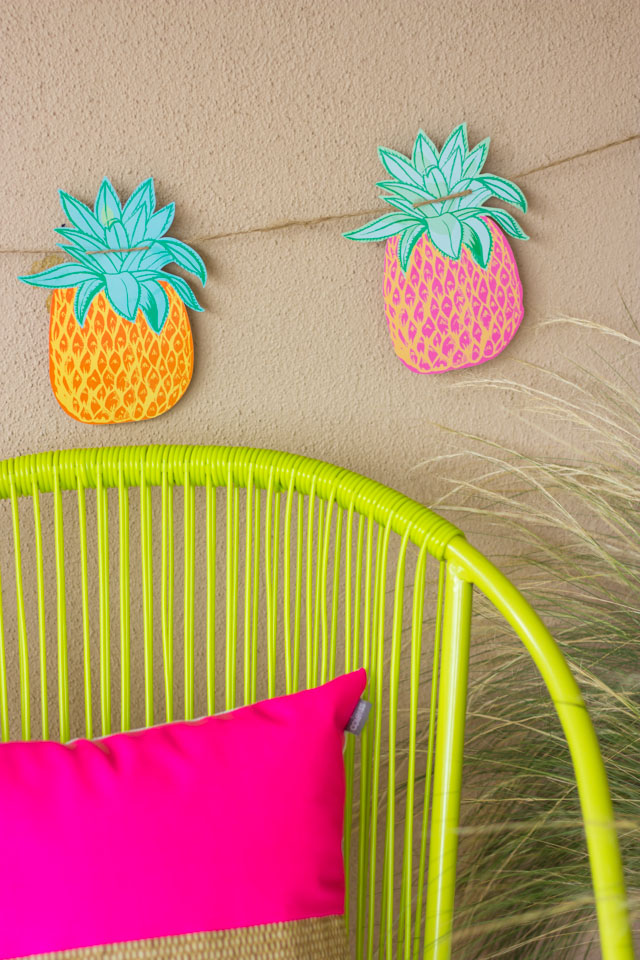 The cutest pineapple garland from At Home stores