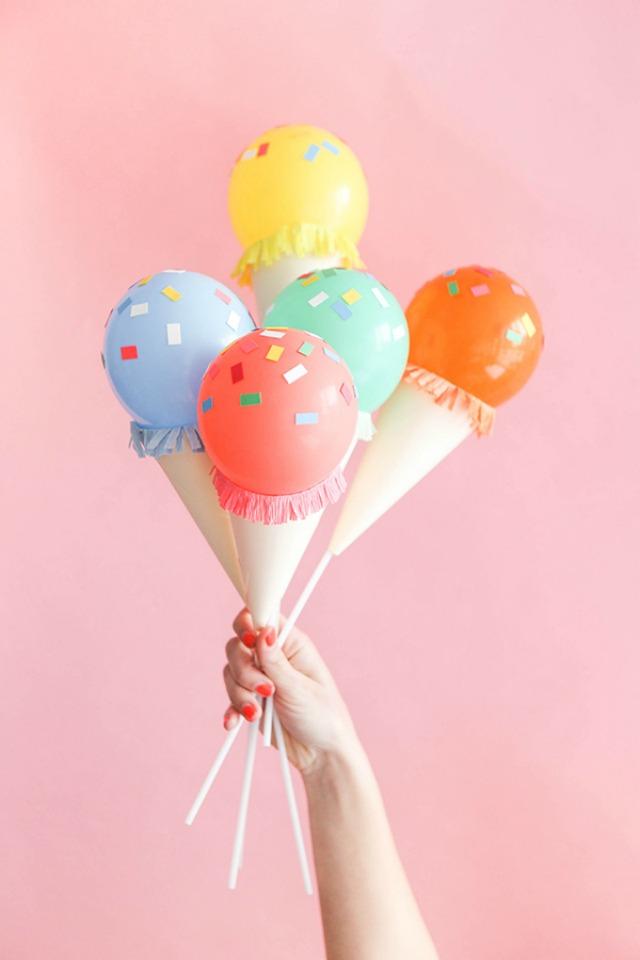 Ice cream cone balloons!