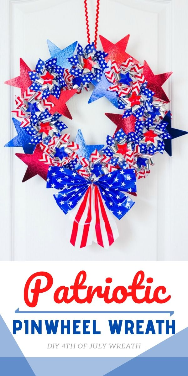 DIY Patriotic Pinwheel Wreath Tutorial