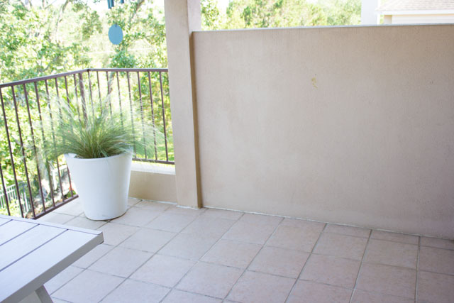 Patio makeover before and after!