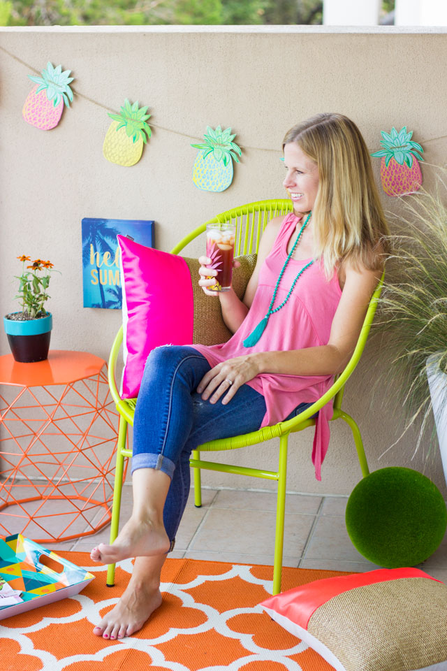 Check out these 6 simple steps to creating your own staycation space at home this summer!