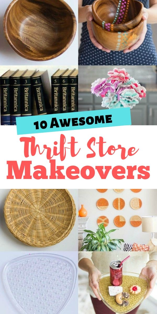 10 Easy Thrift Store Makeover Craft Projects