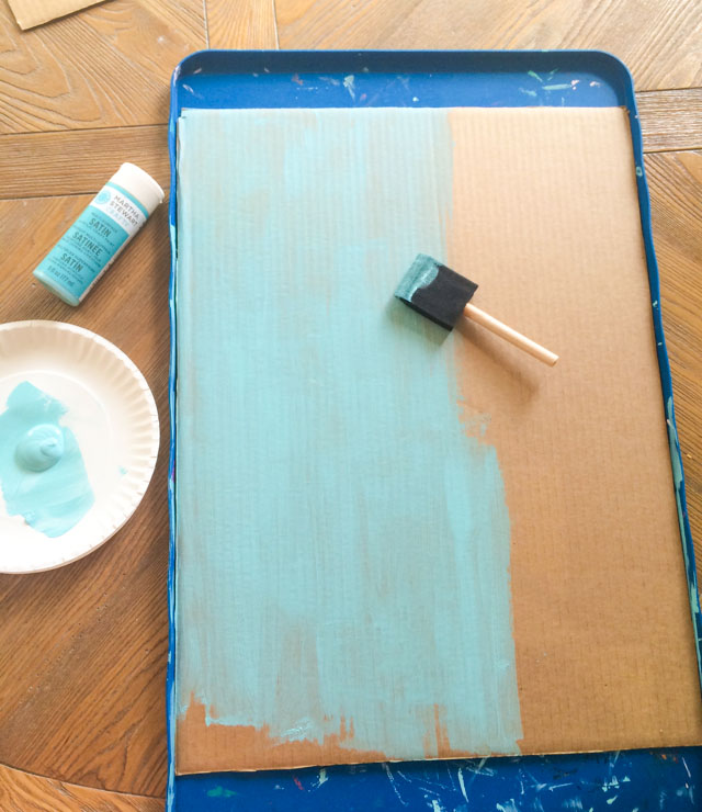 How to paint cardboard with craft paint