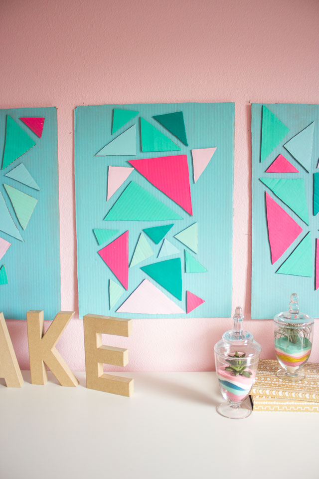 Make home decor from a cardboard box - love this cardboard craft idea!