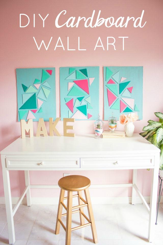 How to make cardboard wall art