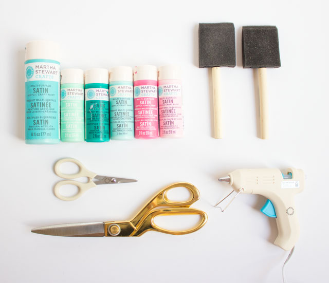 Supplies for cardboard art projects