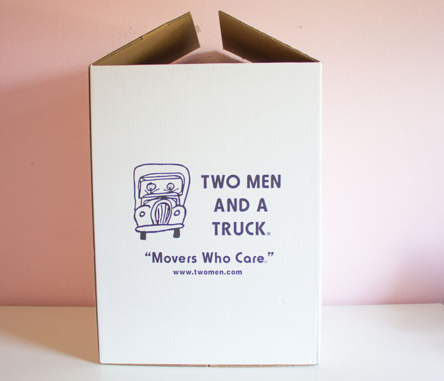 Two Men and a Truck Moving Box