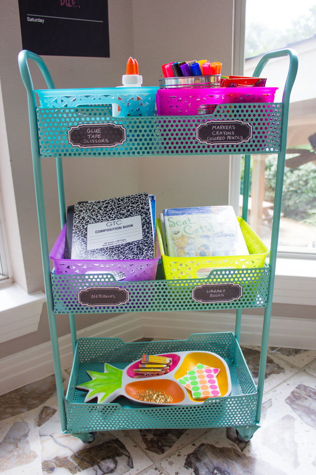 How to create a homework station for back-to-school!