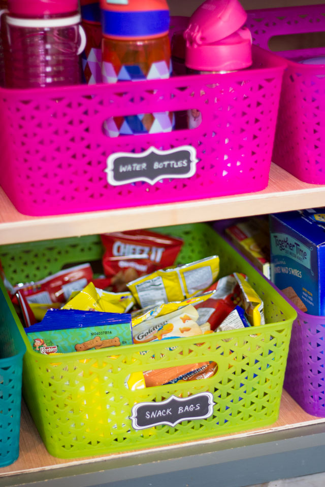 How to create a school lunch station - this is a lifesaver in our home!