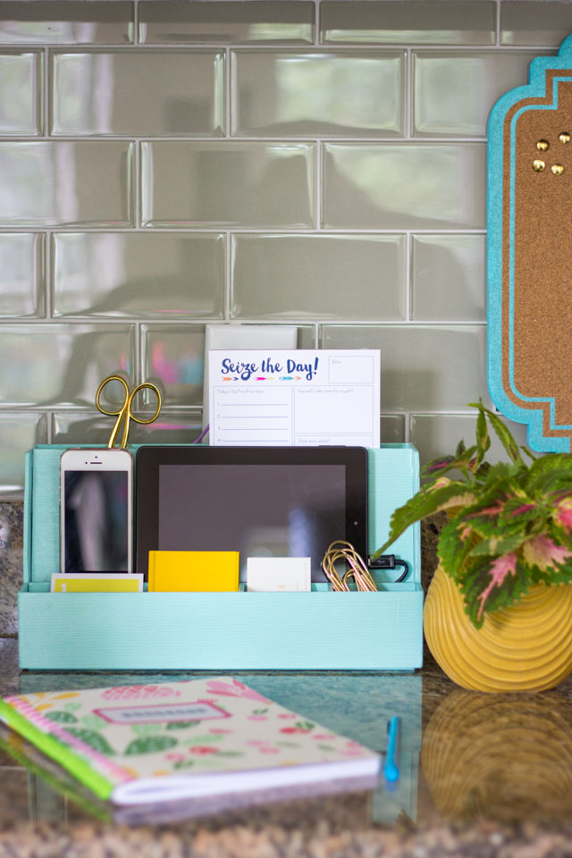 Love this tech organizer from Martha Stewart office!