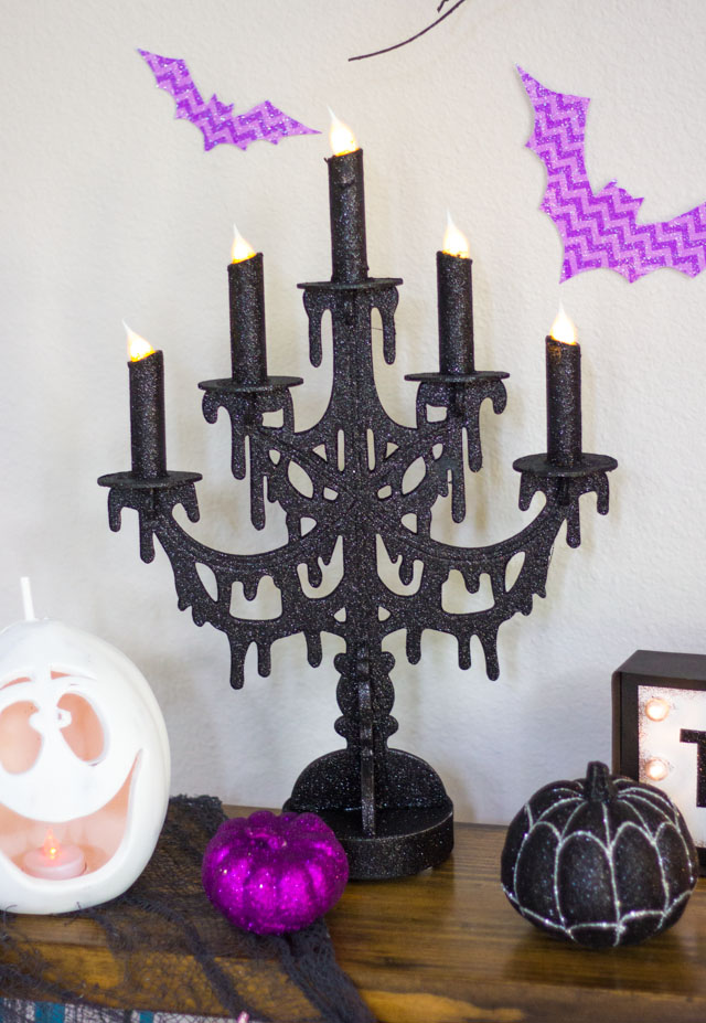 Such a fun Halloween decoration - this battery operated candelabra is from At Home