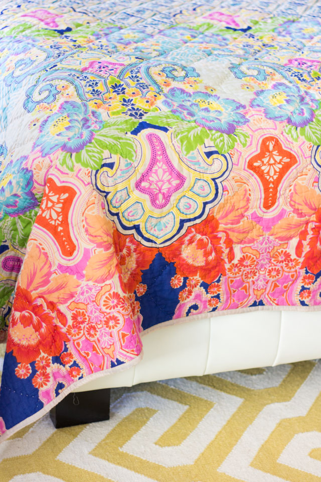 Colorful boho quilt from Home Decorators Collection