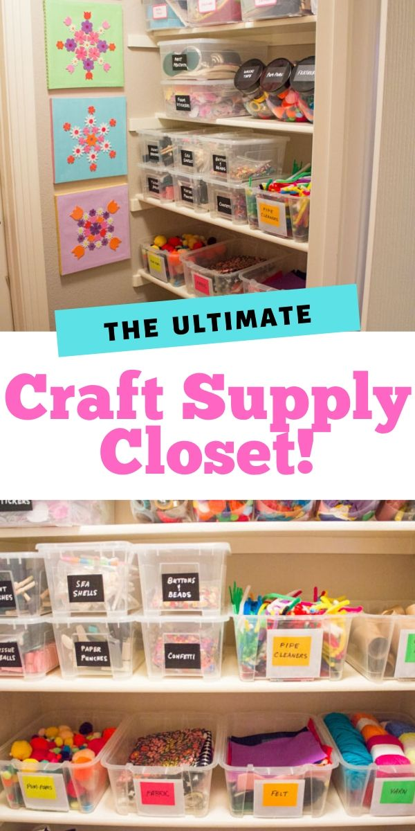 How to create the ultimate craft supply closet!