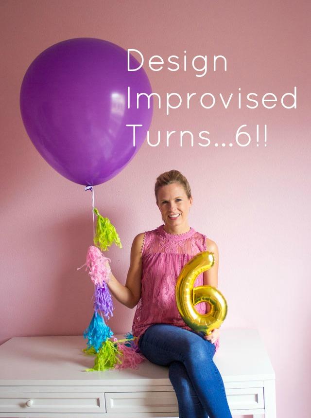 Design Improvised blog turns 6!