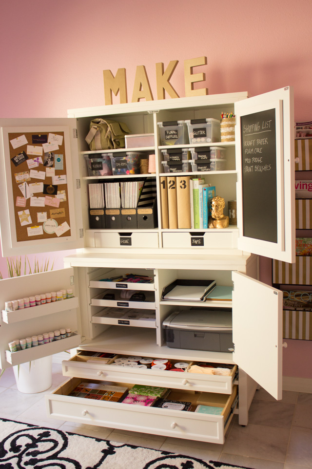 Martha Stewart craft supply cabinet