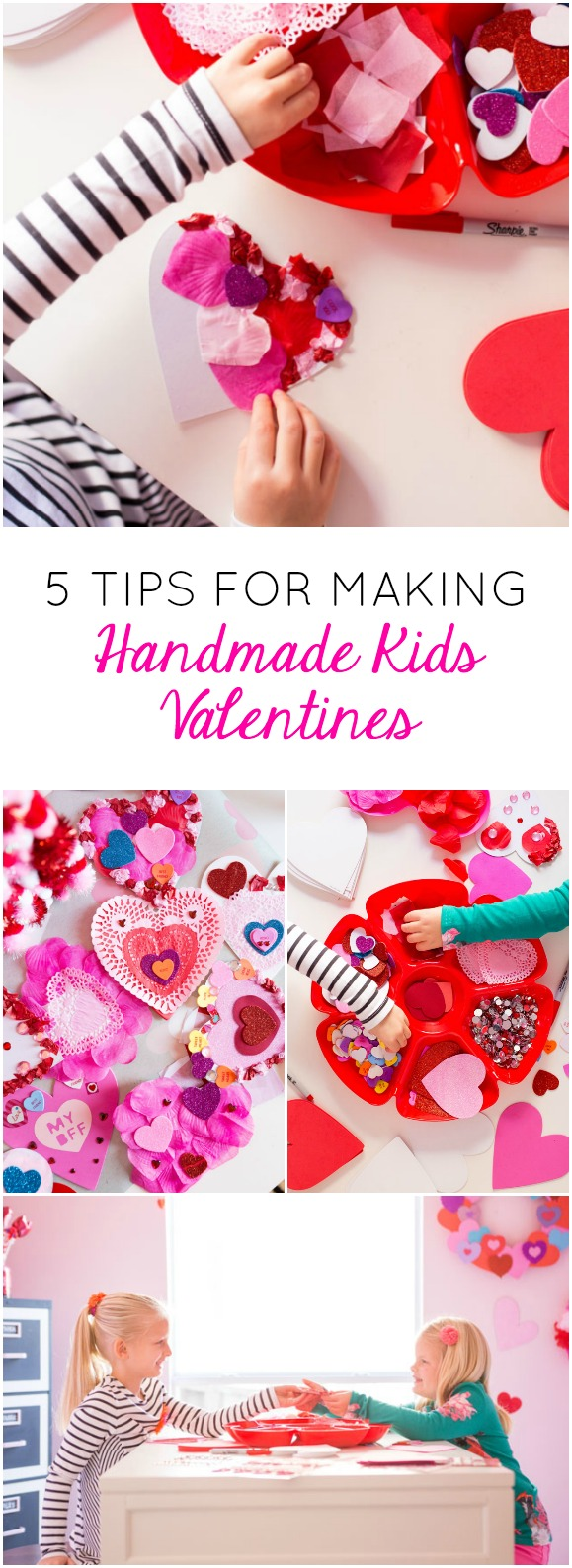 Have fun making easy handmade valentine cards with your kids this year!