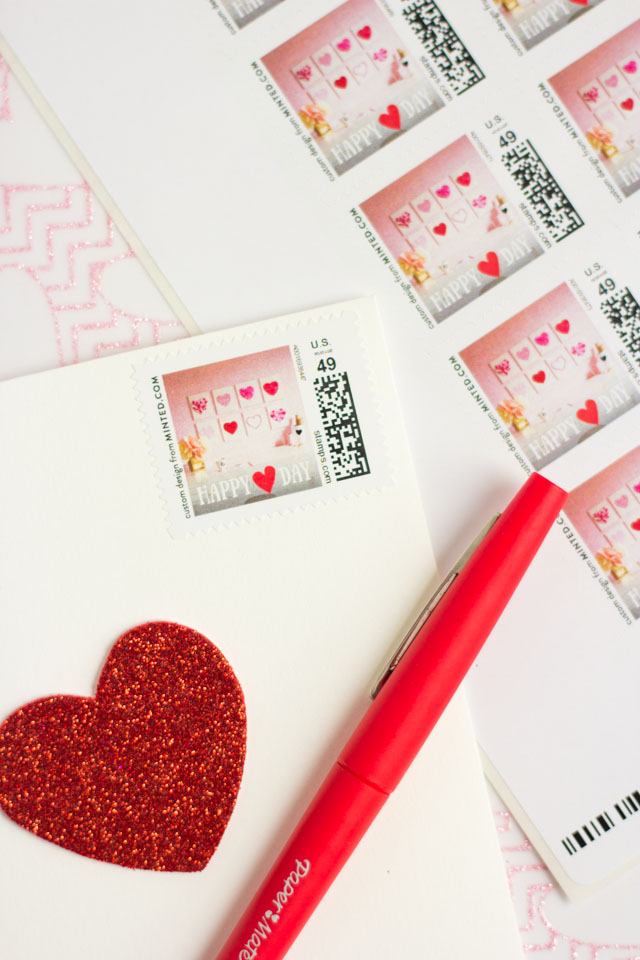 Design your own custom stamps with Minted!