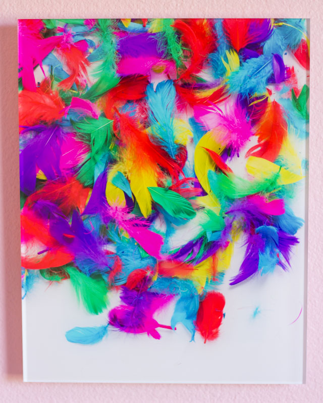 Colorful acrylic prints from Mixbook