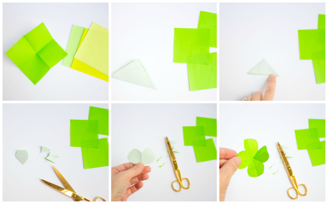 How to make a paper origami shamrock or four leaf clover - so easy!