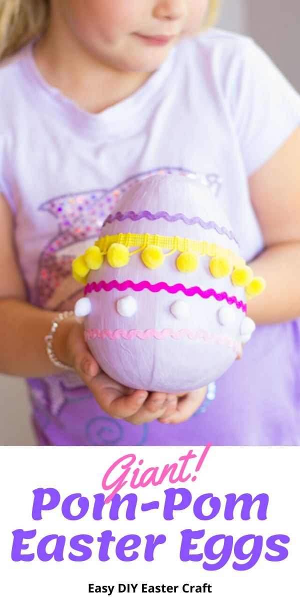 Giant pom-pom Easter eggs!