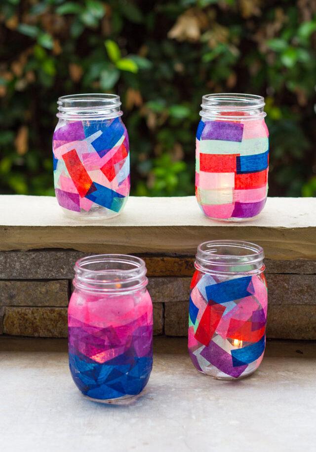 tissue paper confetti mason jar lanterns 1 e1566842561840