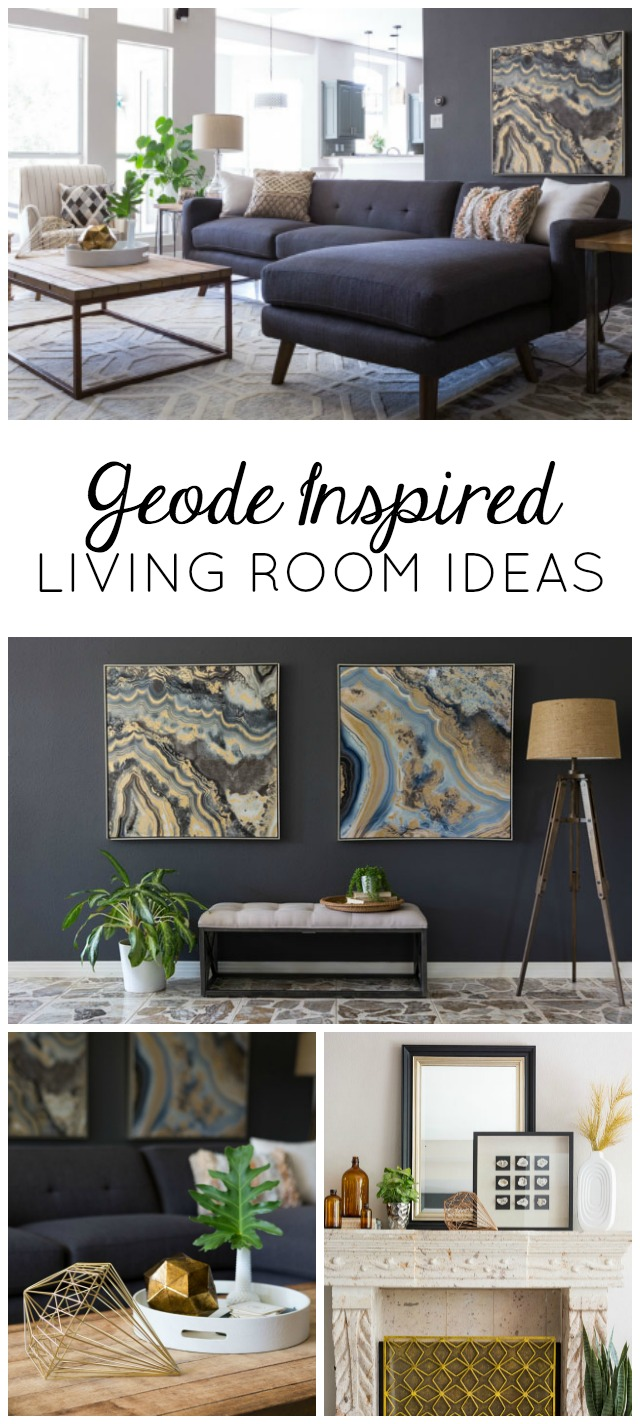 Check out the before and after of this modern geode-inspired living room makeover!