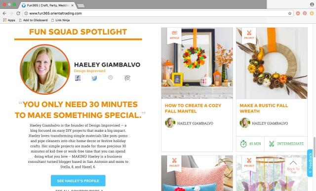 Haeley Giambalvo of Design Improvised - Oriental Trading Fun Squad Member