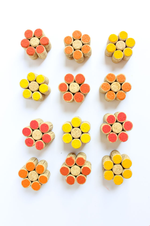 DIY wine cork flowers - so cute!