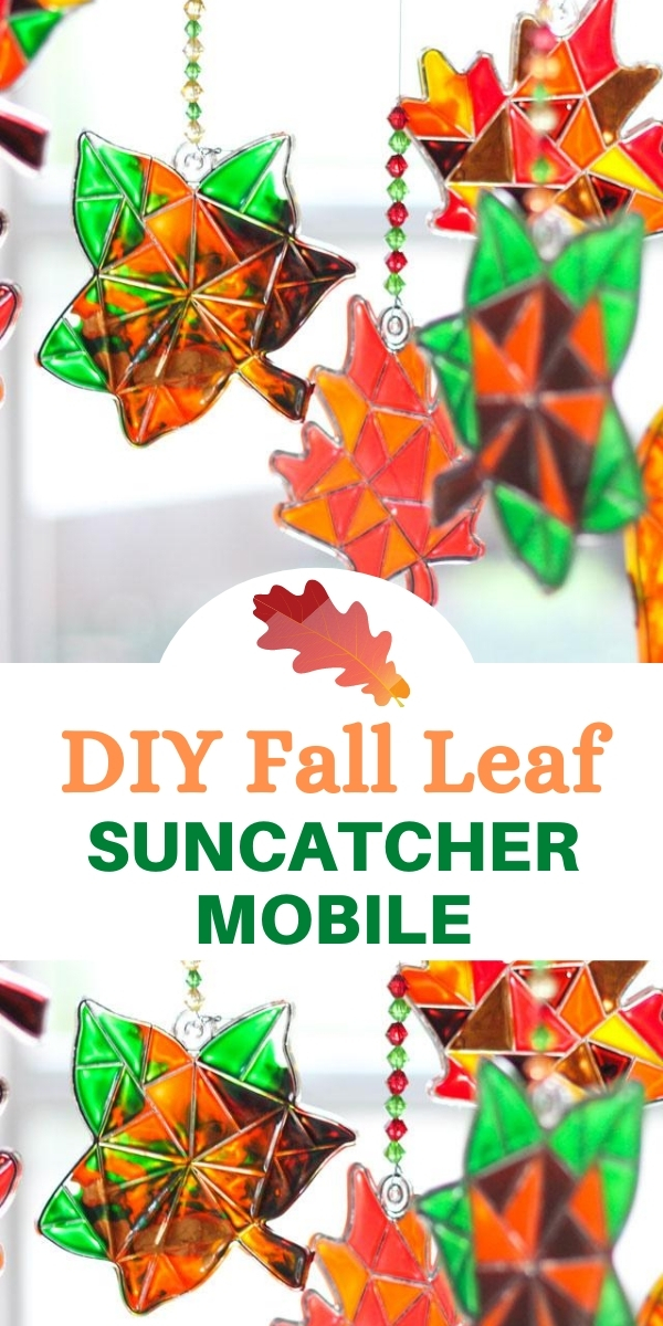 DIY Fall Leaf Suncatcher Mobile