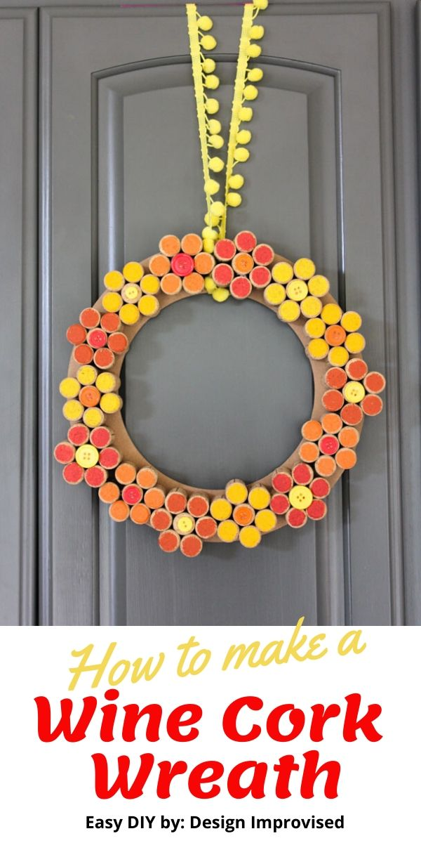 DIY Wine Cork Flower Wreath